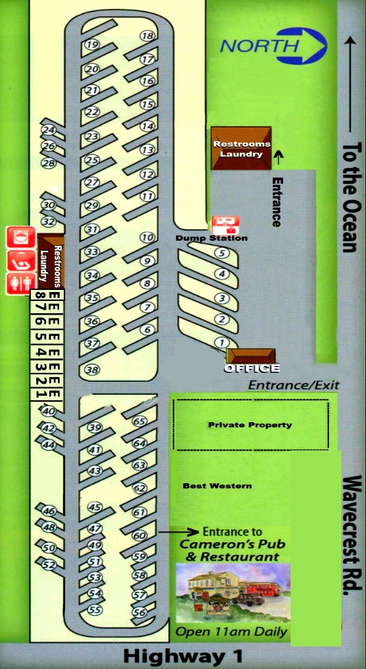 Half Moon Bay RV Park Map and Directions